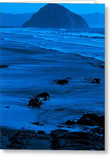 Morro Bay Greeting Cards - Rock Formations On The Beach, Morro Greeting Card by Panoramic Images