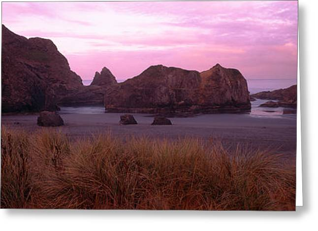 Beach Photography Greeting Cards - Rock Formations On The Beach, Myers Greeting Card by Panoramic Images