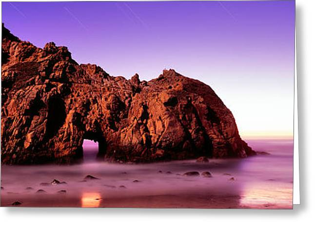 Big Sur California Greeting Cards - Rock Formations On The Beach, Pfeiffer Greeting Card by Panoramic Images