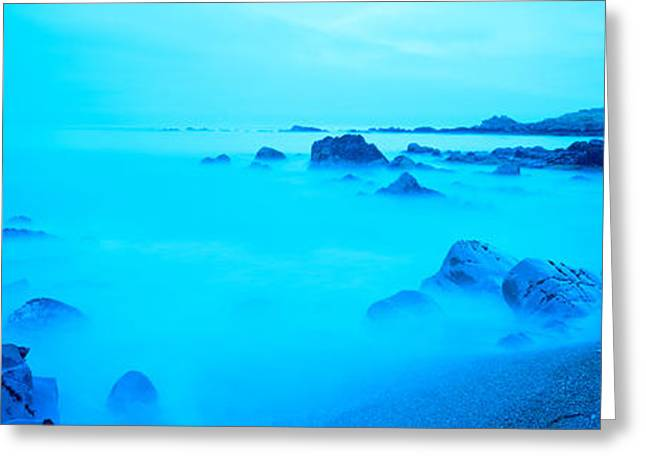 California Ocean Photography Greeting Cards - Rock Formations On The Coast, Central Greeting Card by Panoramic Images