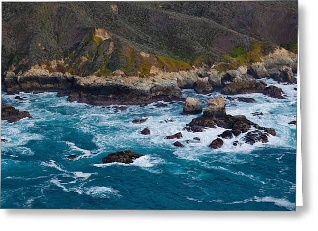Big Sur Beach Photographs Greeting Cards - Rock Formations On The Coast, Garrapata Greeting Card by Panoramic Images