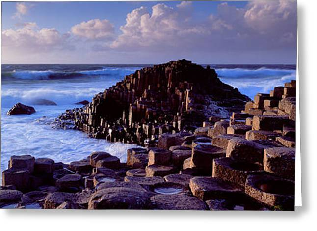 Rock Formations On The Coast, Giants Greeting Card by Panoramic Images