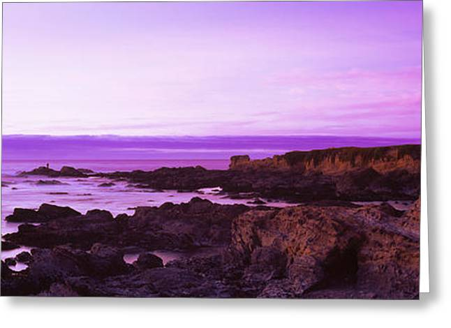 Pescadero Greeting Cards - Rock Formations On The Coast Greeting Card by Panoramic Images