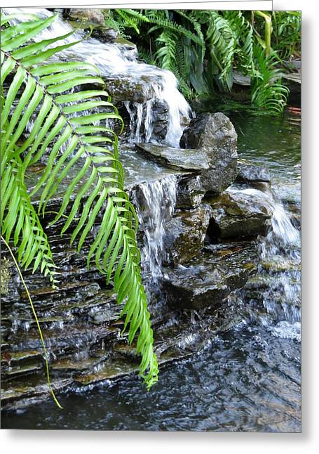 Rocks Greeting Cards - Rock fountain II Greeting Card by Zina Stromberg