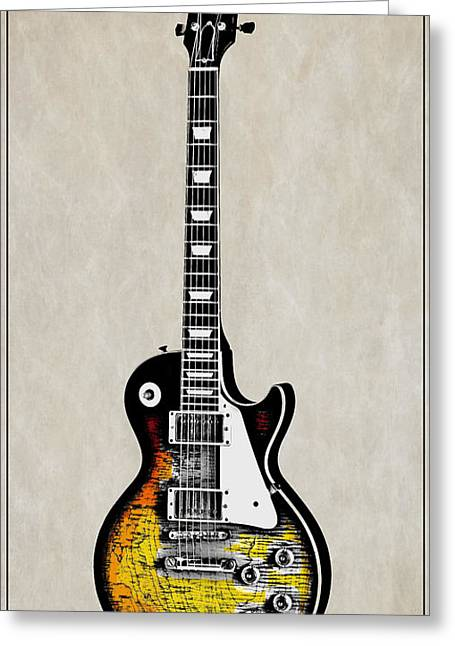 Rock Guitar Greeting Card by Daniel Hagerman