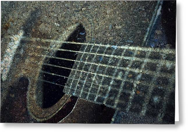 Session Musician Greeting Cards - Rock Guitar Greeting Card by Photographic Arts And Design Studio