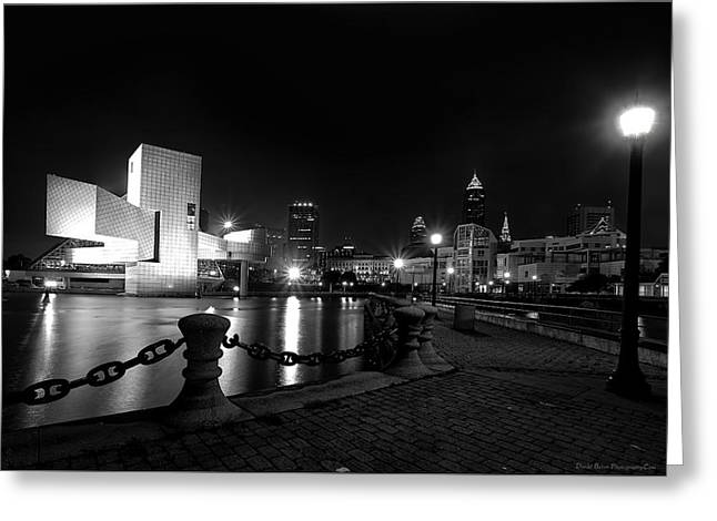 Rock Hall And Great Lakes Science Center Greeting Card by Daniel Behm