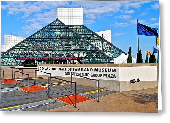 Bass Player Greeting Cards - Rock Hall Of Fame Greeting Card by Frozen in Time Fine Art Photography