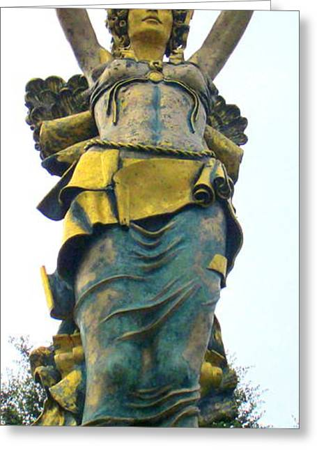 Greek Sculpture Greeting Cards - Rock Hill Goddess 2 Greeting Card by Randall Weidner