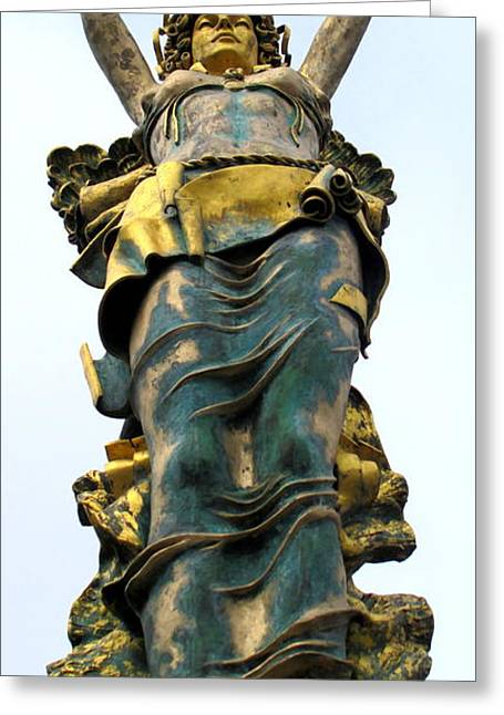 Greek Sculpture Greeting Cards - Rock Hill Goddess 3 Greeting Card by Randall Weidner
