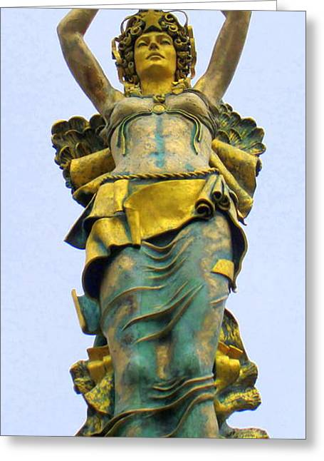 Greek Sculpture Greeting Cards - Rock Hill Goddess 4 Greeting Card by Randall Weidner