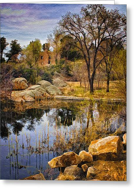 Watson Lake Greeting Cards - Rock House at Granite Dells Greeting Card by Priscilla Burgers