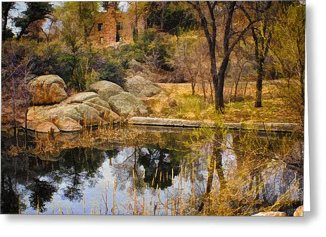 Rock House at Granite Dells Greeting Card by Priscilla Burgers