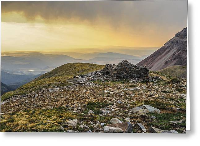 Colorado Wildfires Greeting Cards - Rock House Ruins Greeting Card by Aaron Spong