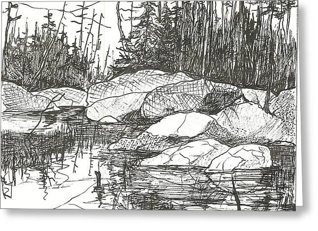 Rock Lake.Algonquin Provincial Park Greeting Card by Madelaine Alter