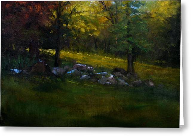 Schmid Greeting Cards - Rock Line Greeting Card by William Worcester