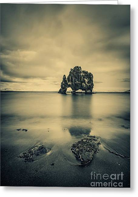 Icelandic Greeting Cards - Rock Of Ages Greeting Card by Evelina Kremsdorf