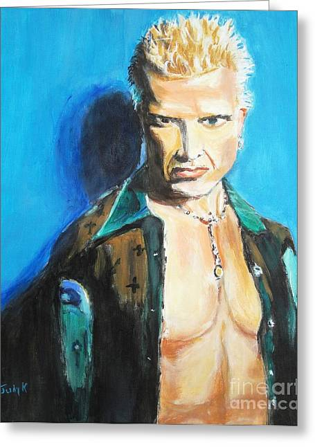 Famous People Portraits Greeting Cards - Rock of Ages Greeting Card by Judy Kay