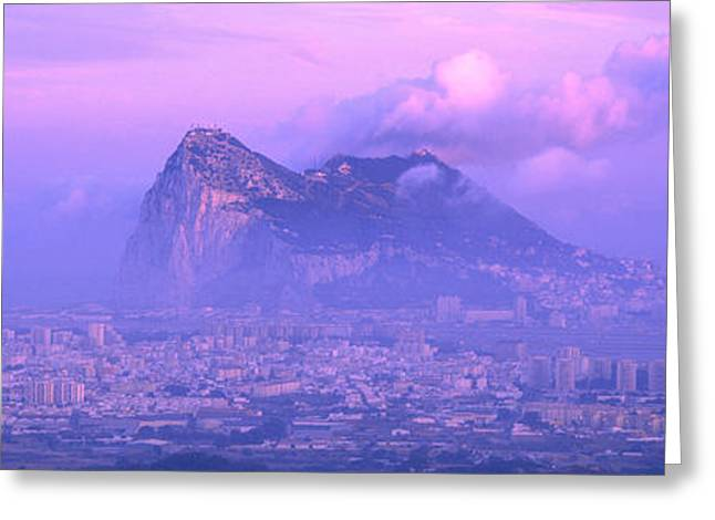 Andalucia Greeting Cards - Rock Of Gibraltar, Andalucia, Spain Greeting Card by Panoramic Images