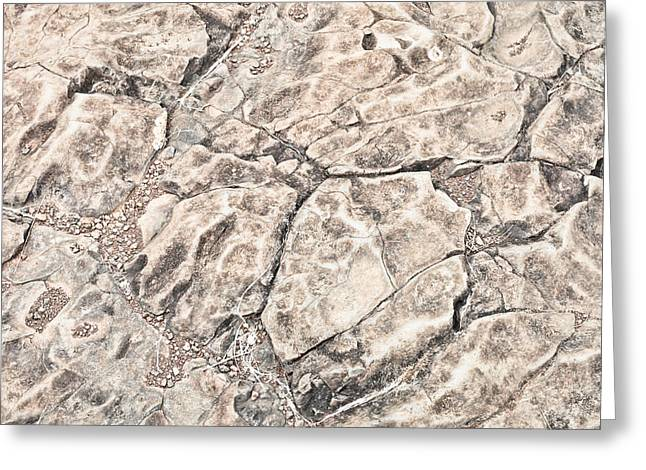 Surface Layer Greeting Cards - Rock pattern Greeting Card by Tom Gowanlock