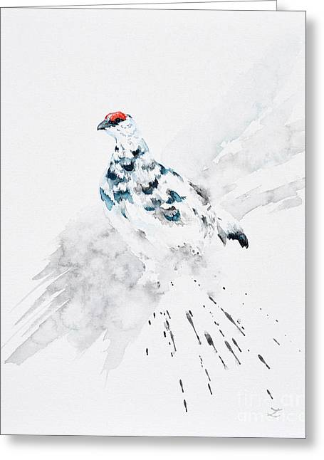 Special Occasion Greeting Cards - Rock Ptarmigan Greeting Card by Zaira Dzhaubaeva