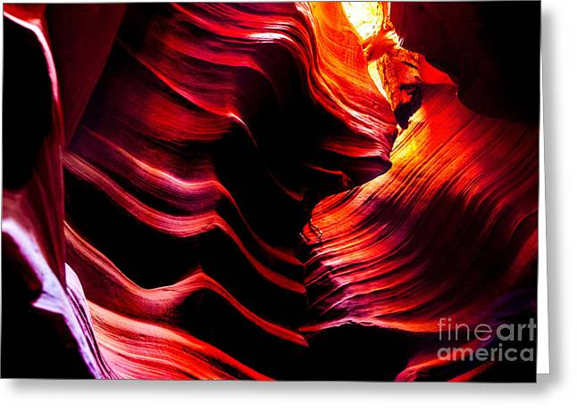Slot Canyon Greeting Cards - Belly Of The Beast Greeting Card by Az Jackson
