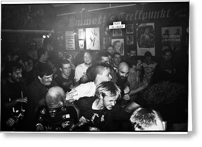 Mosh Pit Greeting Cards - Rock Show Mosh Pit Greeting Card by Kyle Gorman