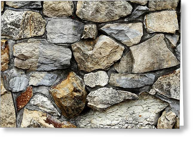 Surface Greeting Cards - Rock wall  Greeting Card by Les Cunliffe