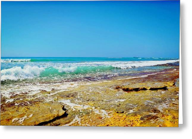 My Ocean Greeting Cards - Rock Water Greeting Card by Brandy Muses