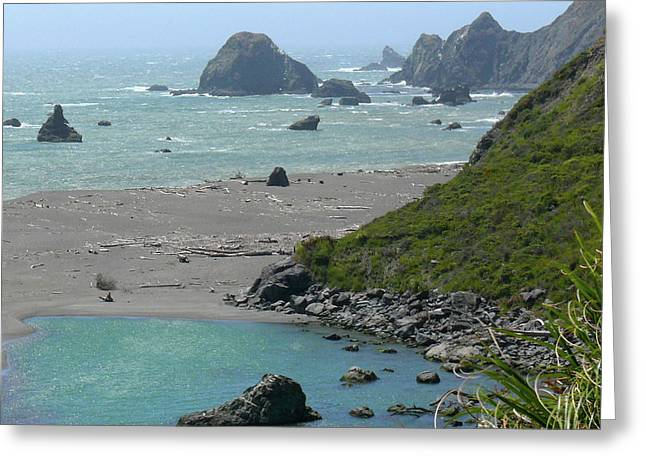 Rocky Coast Greeting Cards - Rock West Coast Greeting Card by Mike McGlothlen