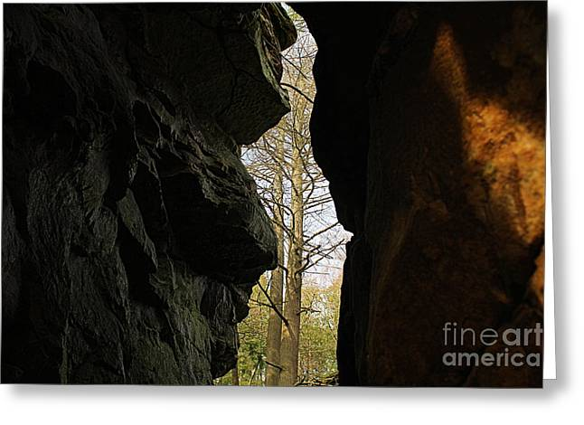 Cavern Greeting Cards - Rock Window Greeting Card by Melissa Petrey