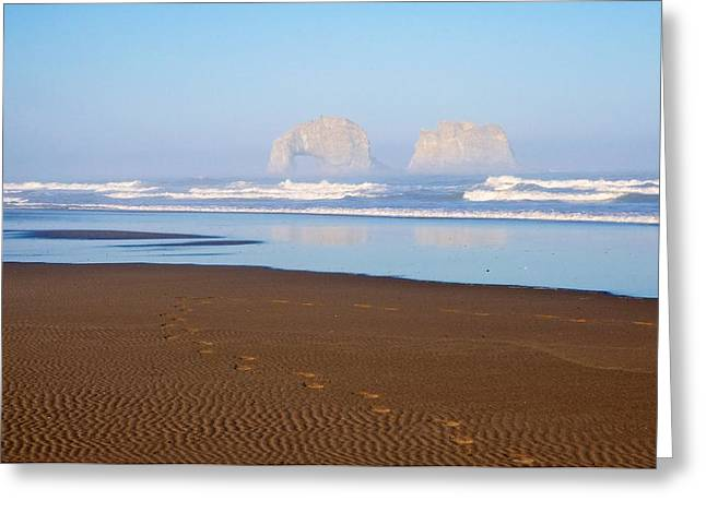 Foot-step Greeting Cards - Rockaway Twins III Greeting Card by Spencer McDonald