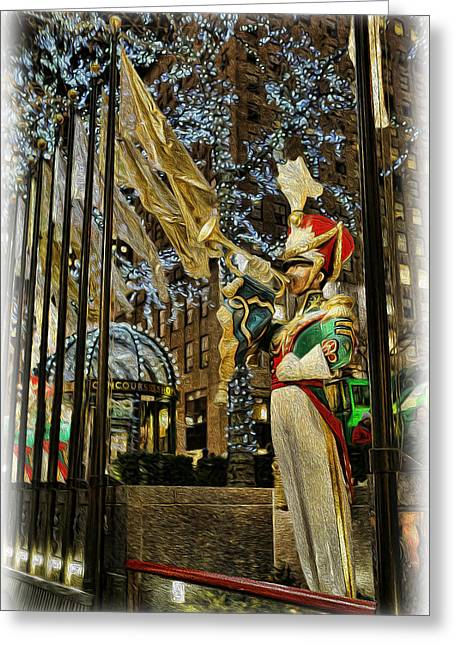 Kwanzaa Greeting Cards - Rockefeller Bugle Boy II Greeting Card by Lee Dos Santos