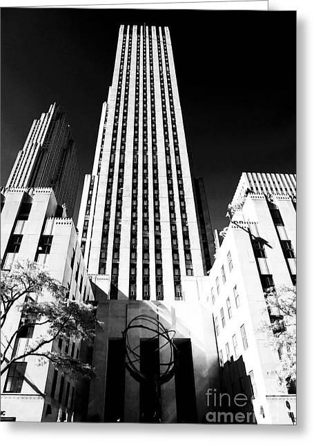 Rockefeller Center Greeting Card by John Rizzuto