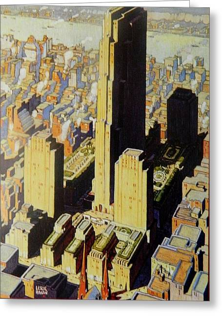Art Decorator Discounts Greeting Cards - Rockefeller Center View Greeting Card by Gunter  Hortz