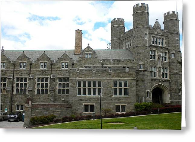Rockefeller Hall Bryn Mawr Greeting Card by Georgia Fowler