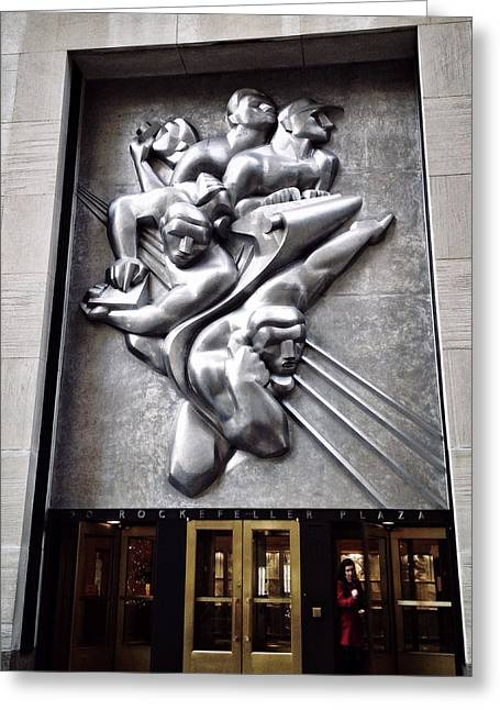 Stainless Steel Digital Art Greeting Cards - Rockefeller News Greeting Card by Natasha Marco