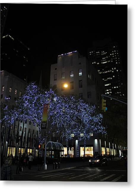 Streetlight Greeting Cards - Rockefeller Plaza Lights Greeting Card by Dan Sproul