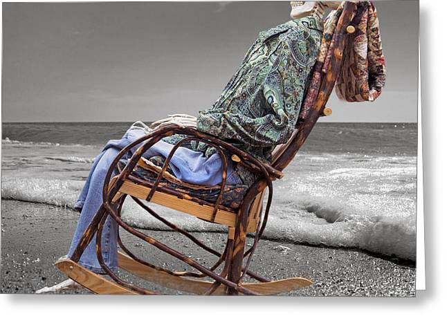 Rocking Chairs Digital Art Greeting Cards - Rocker Rocking On Greeting Card by Betsy A  Cutler