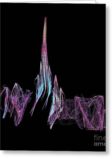 Rocket Launch Lift Off Greeting Card by Gail Matthews