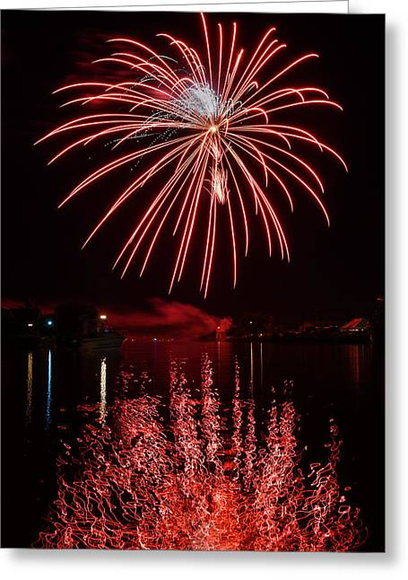 Rockets Red Glare Greeting Cards - Rockets Red Glare Greeting Card by Bill Pevlor