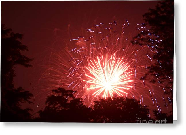 Rockets Red Glare Greeting Cards - Rockets Red Glare Greeting Card by Linda Steele