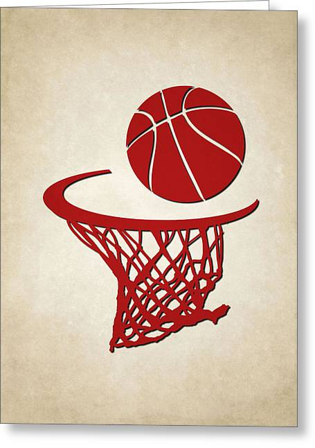 Basket Ball Greeting Cards - Rockets Team Hoop2 Greeting Card by Joe Hamilton