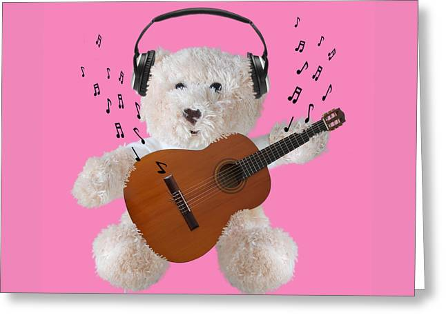 Country And Western Greeting Cards - Rockin Teddy Greeting Card by Gill Billington