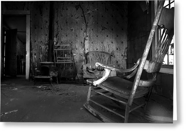 Haunted House Photographs Greeting Cards - Rocking Chair Greeting Card by Cat Connor