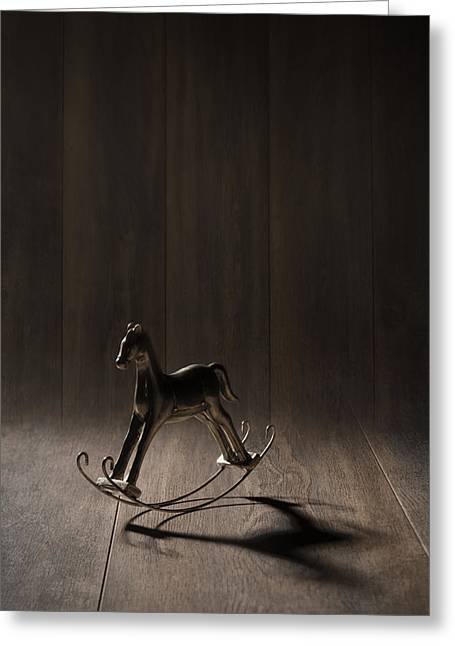 Child Toy Greeting Cards - Rocking Horse Greeting Card by Amanda And Christopher Elwell