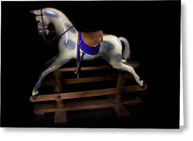 Toy Boat Greeting Cards - Rocking Horse Paxton House Greeting Card by Niall McWilliam