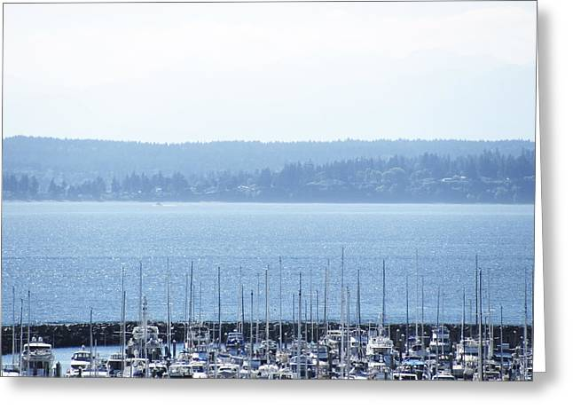 Laura Watts Greeting Cards - Rocking in the Puget Sound Greeting Card by Laura Watts