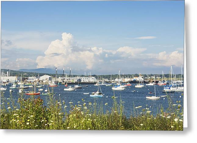 Water Vessels Greeting Cards - Rockland Harbor on the Coast of Maine Greeting Card by Keith Webber Jr