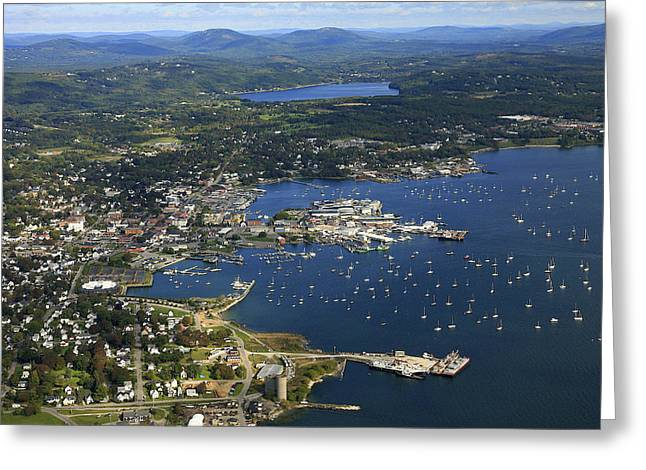 Maine Beach Greeting Cards - Rockland, Maine Greeting Card by Dave Cleaveland